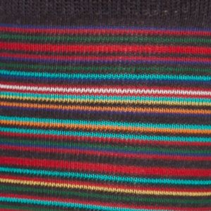 Mens Casual Socks: Indigo Gold Toe Frankie Stripe Crew Socks - Single Pair