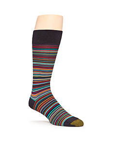 Gold Toe Frankie Stripe Crew Socks - Single Pair