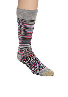 Goldtoe Frankie Stripes Crew Socks - Single Pair