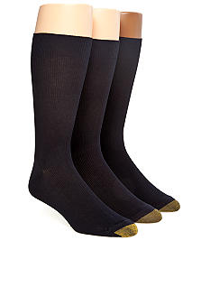 Gold Toe Metropolitan 3-Pack Crew Dress Socks
