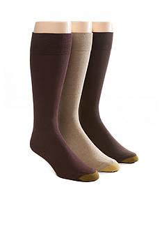 Gold Toe Big & Tall Fashion Solid 3 Pack Socks
