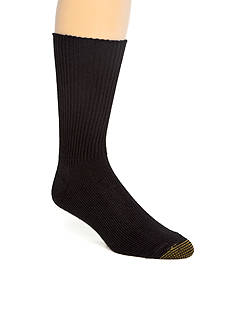 Gold Toe Acrylic Fluffies Crew Casual Socks - Single Pair