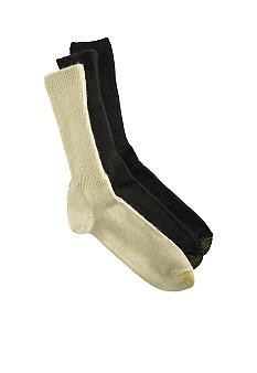 Gold Toe Big & Tall Fluffies 3 Pk Socks