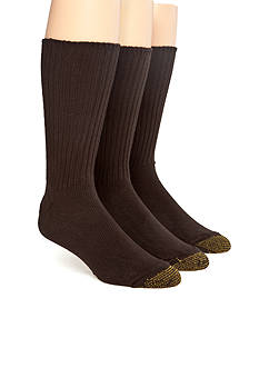 Gold Toe Big & Tall Cotton Fluffies 3 Pk Casual Socks