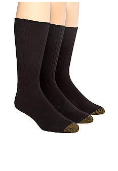 Gold Toe® 3-Pack Cotton Ribbed Socks