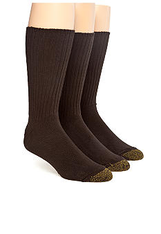 Gold Toe 3-Pack Cotton Ribbed Socks