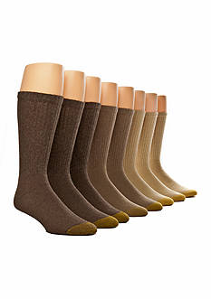Gold Toe 6 + 2 Bonus Pack Crew Socks