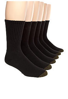 Gold Toe® Big & Tall  Cotton Crew 6 Pk  Athletic Socks
