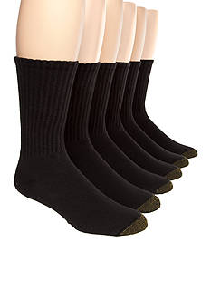 Gold Toe Big & Tall Cotton Crew 6 Pk Athletic Socks
