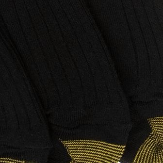 Everyday Essentials: Black Gold Toe Big & Tall 3 Pack Canterbury Dress Socks