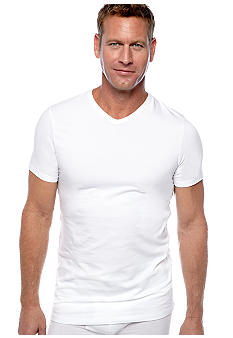 "Jockey 2-Pack Slim Fit ""Stay Dry"" V-Neck Tees"
