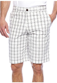 Dockers Flat Front Midnight Heather Plaid Shorts