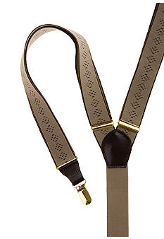 Saddlebred Diamond Patterned Clip Suspender