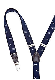 Saddlebred Whale Patterned Suspenders