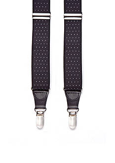 Saddlebred Pin Dot Clip Suspenders