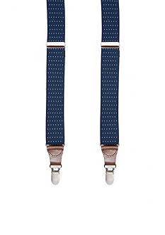 Saddlebred Pin Dot Stretch Clip Suspenders