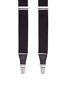 Saddlebred 32-mm. Solid Stretch Clip Suspenders