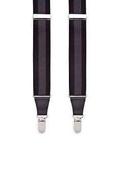 Saddlebred Tonal Horizontal Stripe Clip Suspenders