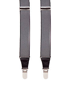 Saddlebred Herringbone Clip Suspenders