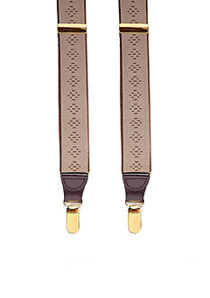 Saddlebred Tonal Diamond Clip Suspenders