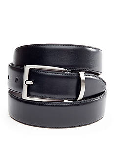 Saddlebred 1.25-in. Leather Reversible Brushed Nickle Belt