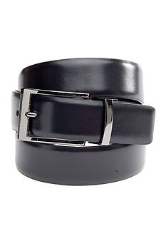 Saddlebred 1.13-in. Leather Reversible Gunmetal Belt