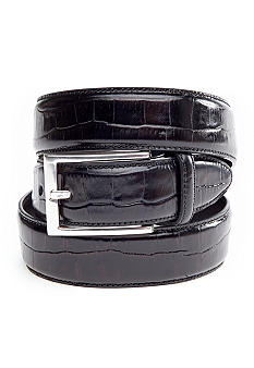 Saddlebred® Brushed Nickle Dress Belt