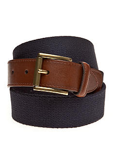 Saddlebred Fabric Leather Tab Belt
