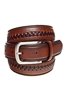 Saddlebred® Leather Braided Center Belt