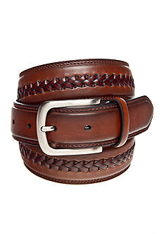 Saddlebred 1.38-in. Leather Braided Center Belt