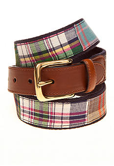 Saddlebred Madras Plaid Belt
