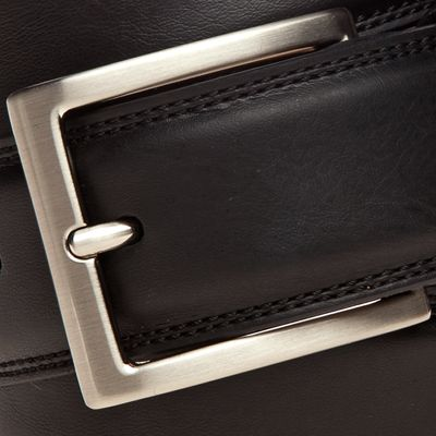 Men: Saddlebred Accessories: Black Saddlebred 1.25-in. Leather Casual Belt