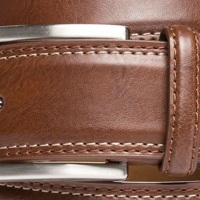 Men: Saddlebred Accessories: Cognac Saddlebred 1.25-in. Leather Casual Belt