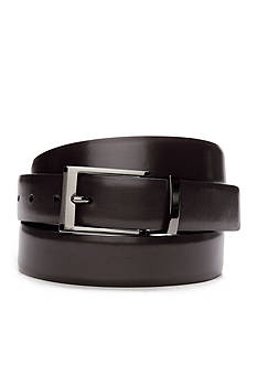 Saddlebred Big & Tall Reversible Leather Dress Belt