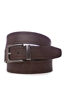 Saddlebred Big & Tall Flat Laminate Reversible Belt