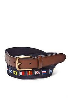 Saddlebred Big & Tall 1.38-in. Nautical Flag Belt