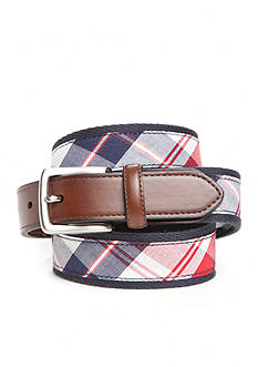 Saddlebred Big & Tall 1.38-in. Americana Plaid Belt
