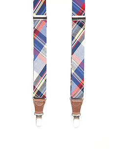 Saddlebred 32-mm. Plaid Non-Stretch Clip Suspenders