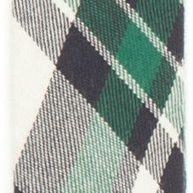 Suspenders: Green Saddlebred 32-mm. Plaid Non-Stretch Clip Suspenders