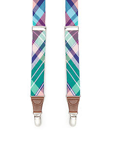 Saddlebred 1.26-in. Plaid Non-Stretch Clip Suspenders