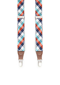 Saddlebred 1.26-in. Multi Check Non-Stretch Clip Suspenders