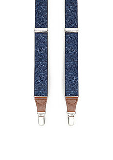 Saddlebred 1.26-in. Paisley Print Stretch Clip Suspenders