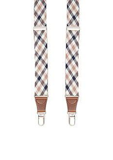 Saddlebred 1.26-in. Gingham Non-Stretch Clip Suspenders