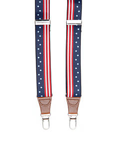 Saddlebred 1.26-in. Stars And Stripes Stretch Clip Suspenders