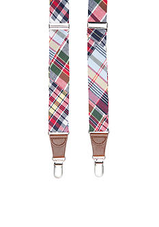 Saddlebred 1.26-in. Patch Madras Tubular Non-Stretch Clip Suspenders