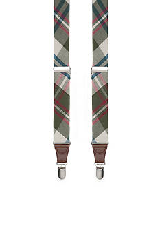 Saddlebred 1.26-in. Non-Stretch Tubular Plaid Suspenders