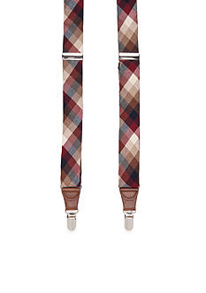 Saddlebred 1.26-in. Madras Stretch Clip Suspenders