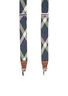 Saddlebred 1.3-in. Plaid Stretch Clip Suspenders