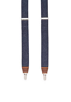 Saddlebred 1.26- in. Heathered Solid Stretch Clip Suspenders