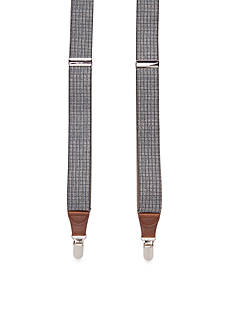 Saddlebred 1.26-in. Brushed Houndstooth Stretch Clip Suspenders